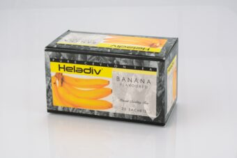 HELADIV BANANA FLAVOURED BLACK TEA (PACK OF 5) - 125 TEA BAGS