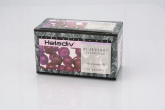 HELADIV BLUEBERRY FLAVORED BLACK TEA (PACK OF 5) - 125 TEA BAGS