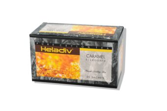 HELADIV CARAMEL FLAVORED BLACK TEA (PACK OF 5) - 125 TEA BAGS